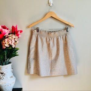J. CREW Cream & Gold Shimmer Ruffle Waist Skirt